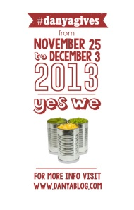 "Graphic for Danya's ""Yes We Can"" Twitter event, November 25 to December 3. #danyagives"