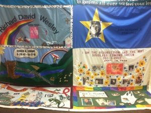 Photo of a portion of the AIDS Memorial Quilt