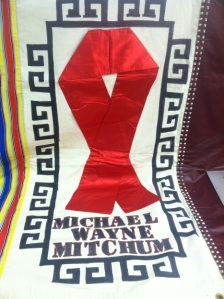 Photo of a panel from the AIDS Memorial Quilt
